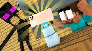 Monster School : NEW! IPhone 11 BOTTLE FLIP CHALLENGE - BEST Minecraft Animation