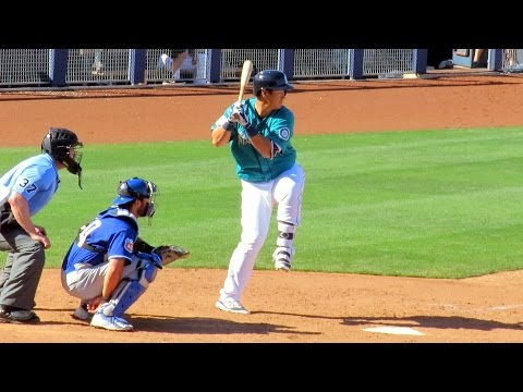 Dae-ho Lee Hits Double for Mariners Today 2016-03-26
