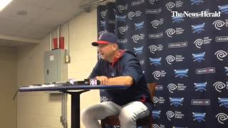 Indians manager Terry Francona talks about putting Jason Giambi in the lineup and giving Carlos Sant