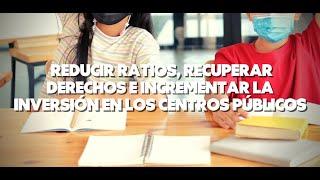 TVE - Enmiendas para reducir ratios, recuperar derechos y subir la inversión en los centros públicos
