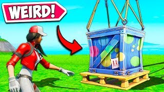 *WEIRDEST* SUPPLY DROP OF ALL TIME!! - Fortnite Funny Fails and WTF Moments! #741