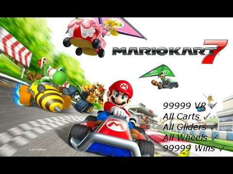 Mario Kart 7: How to UNLOCK EVERYTHING and get 99999 VR! (Working on Latest!)