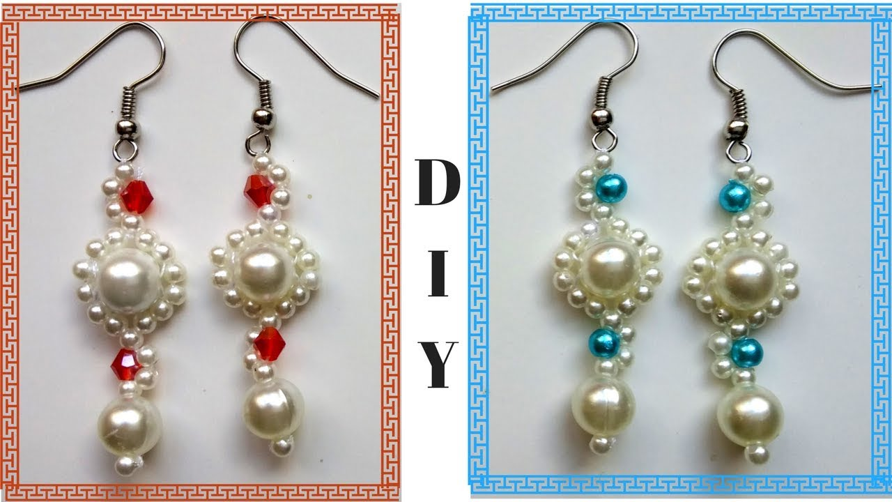 Beading Earrings Tutorial For Beginners 10 Minutes Diy