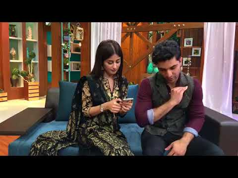Ahad Raza Mir And Sajal Ali   Live Chat   Throw Back   Yakeen Ka Safar   YouTube