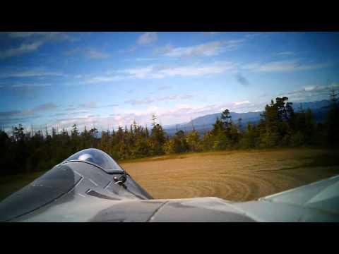 BlitzRCWorks LX F-22 Flight plus Crash at North Point Higgins School