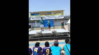 お台場で行われたビーチスポーツフェスに元ビーチバレー日本代表選手が...