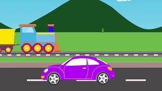 colors for children to learn | learning colors for kids | learn colors with train animate