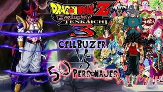 CELLBUZER VS 50 PERSONAJES! LA FUSION MAS PODEROSA Y CHETADA! DRAGON BALL Z BUDOKAI TENKAICHI 3