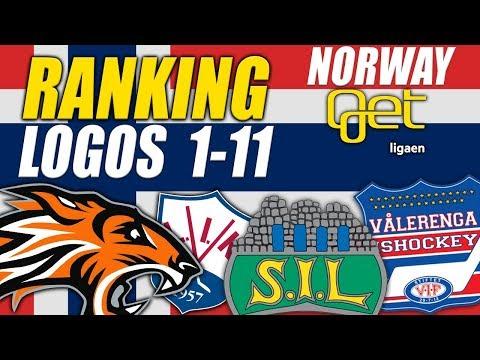 Norwegian GET-ligaen Logos Ranked 1-11