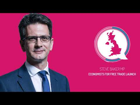 Steve Baker speaks at the Economists for Free Trade report launch