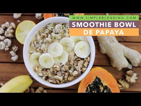 SMOOTHIE BOWL DE PAPAYA | Cómo hacer un smoothie bowl con papaya | Para el desayuno
