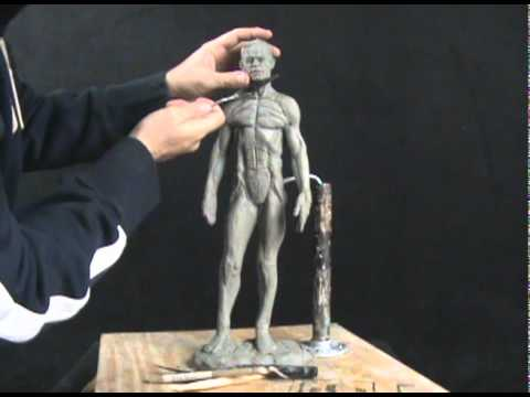 how to make human face with clay