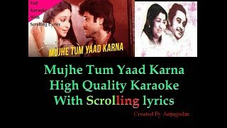 Mujhe Tum Yaad Karna || Mashal 1984 || karaoke with scrolling lyrics (High QUality)