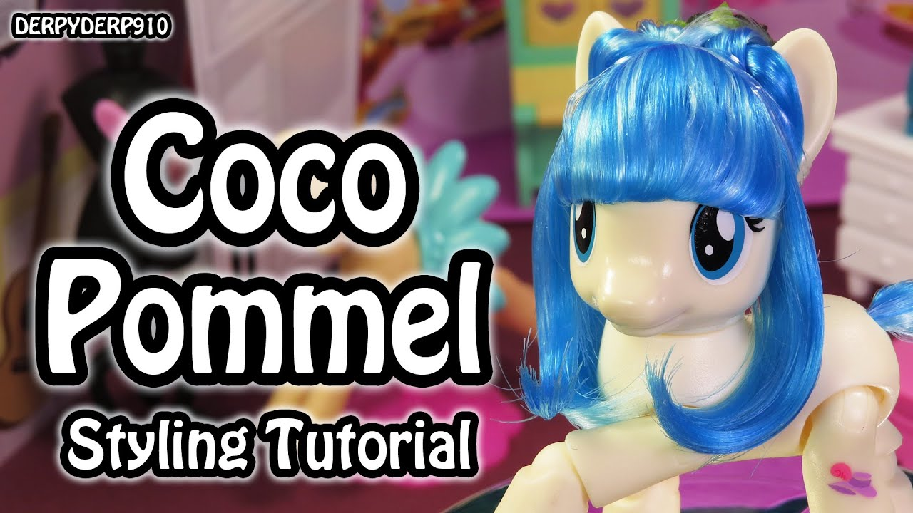 mlp hair styling tutorial my pony miss coco pommel hair styling tutorial how 5121