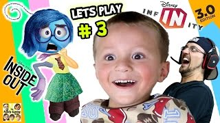 Lets Play DISNEY INFINITY 3.0 INSIDE OUT #3: SWITCHING BODIES!  Brain Power Phase 3 (FGTEEV Fun)
