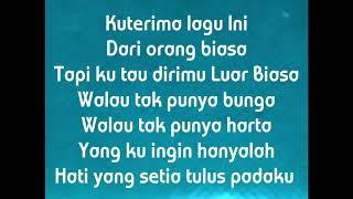 Jawaban Cinta Luar Biasa (Lirik) oleh Putri Octari (Jawaban Cover) liriklagu    popbarat