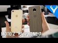 Iphone 7 vs Moto Z - BRIGA DE MONSTROS Comparativo | Qual melhor?