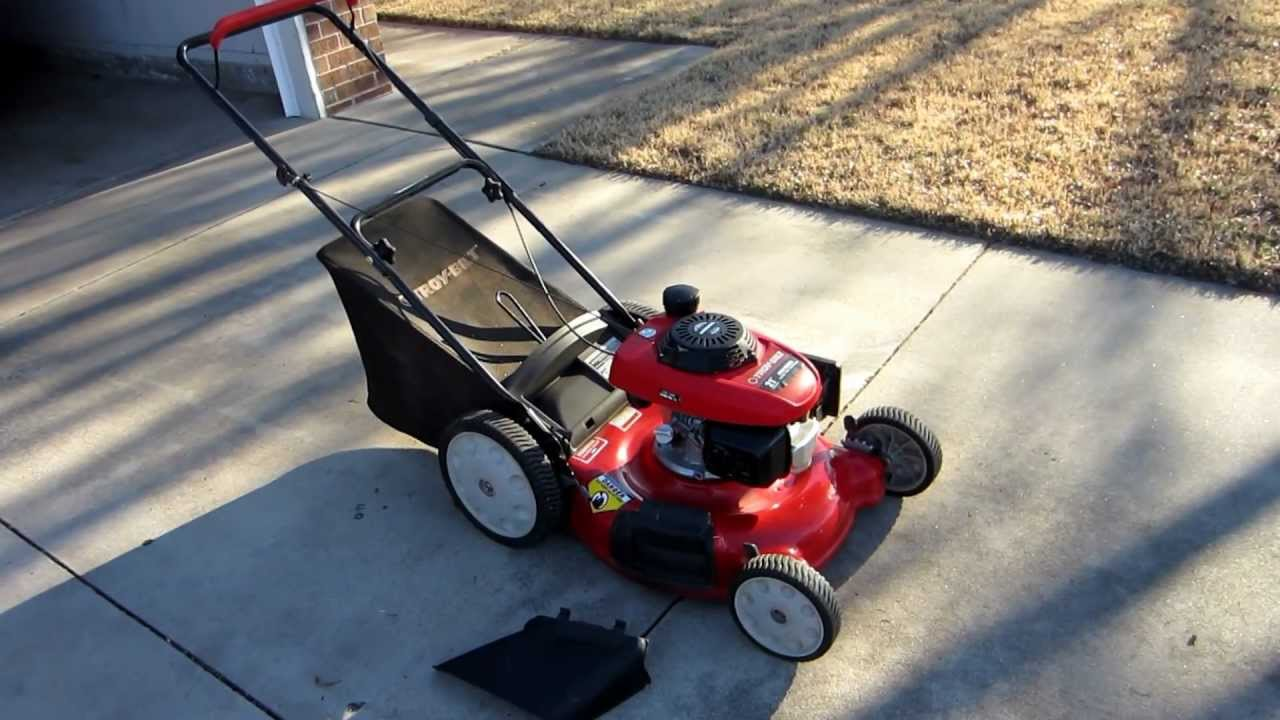 21 Inch Troy Bilt Mower With Honda Engine Youtube