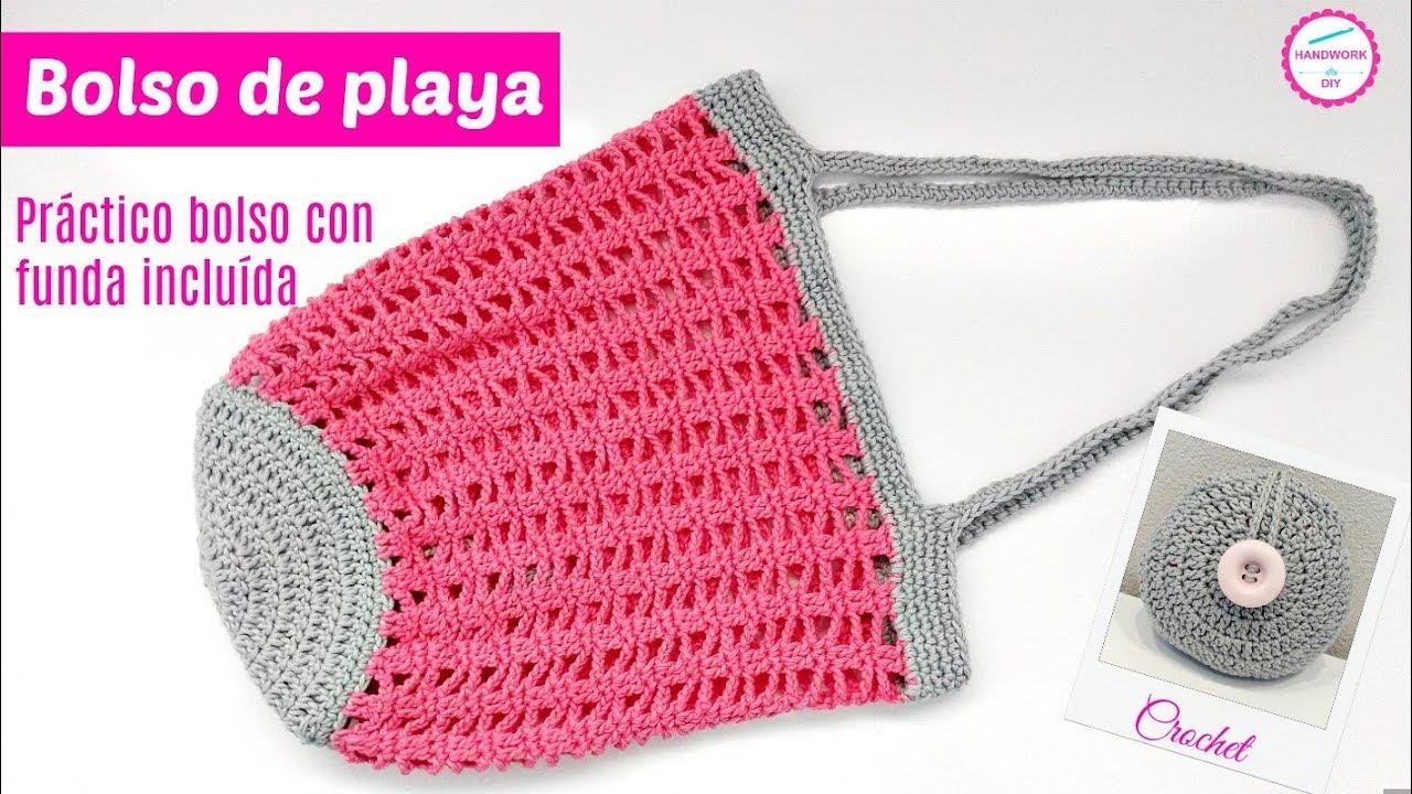 Bolso Crochet Con Funda Incorporada Tutorial Paso A Paso Youtube