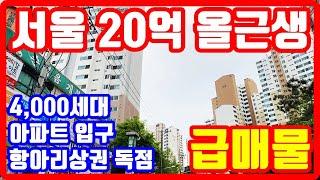 서울 20억 올근생 꼬마빌딩 급매물 ✅4천세대 항아리상…