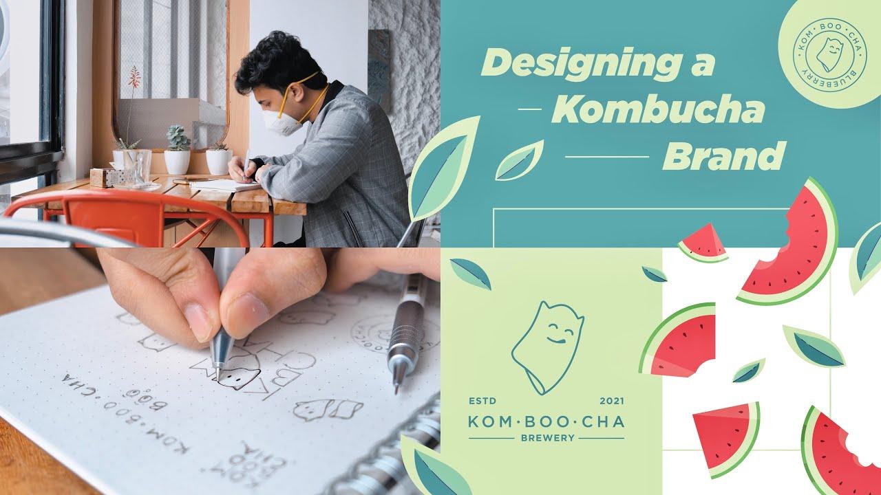 Designing a Kombucha Brand - Part 1 (Logo and Patterns)