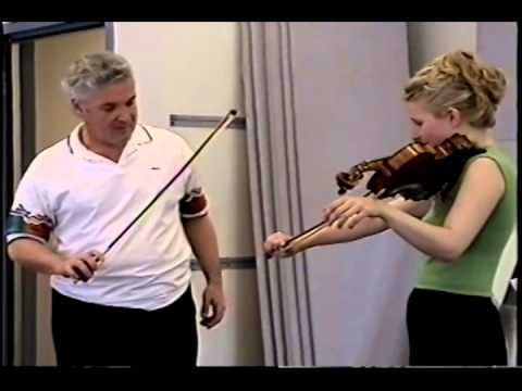Pinchas Zukerman lesson with Helena Baillie