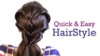Quick and Easy Hair Style in 1 minute | Latest Hair Styles