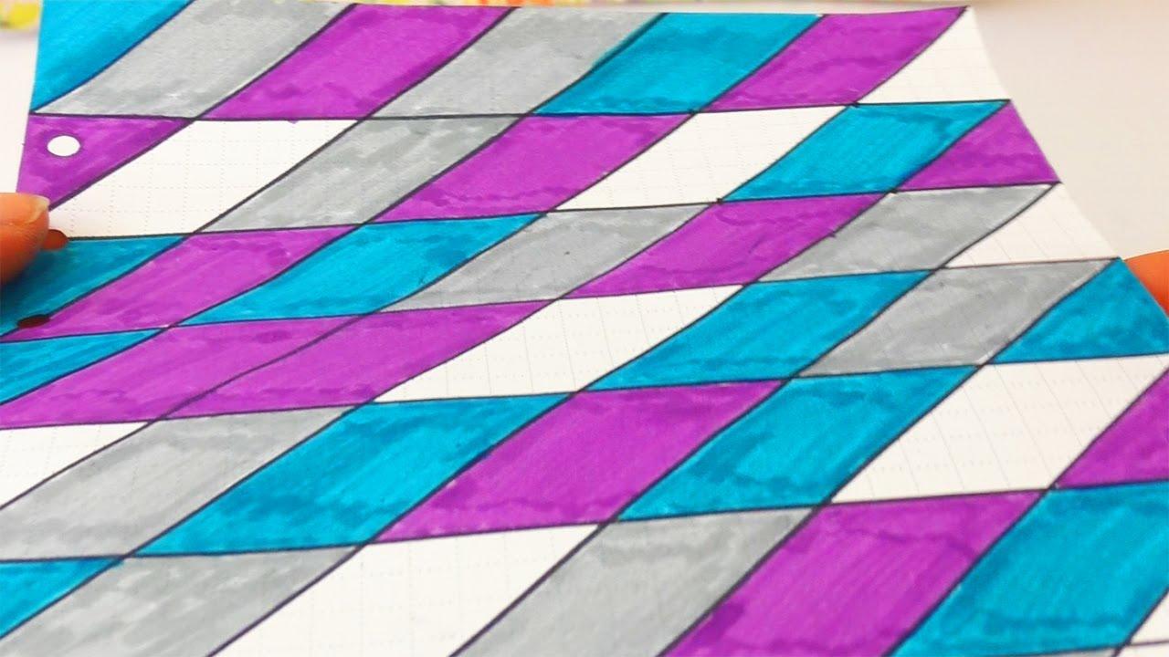 Cooles Muster Im Filofax Malen Seite Gestalten Deckblatt