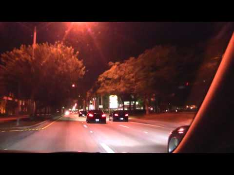 6 black, 1 Silver infinti G37's rolling late night in Miami - G37 Group Cruise