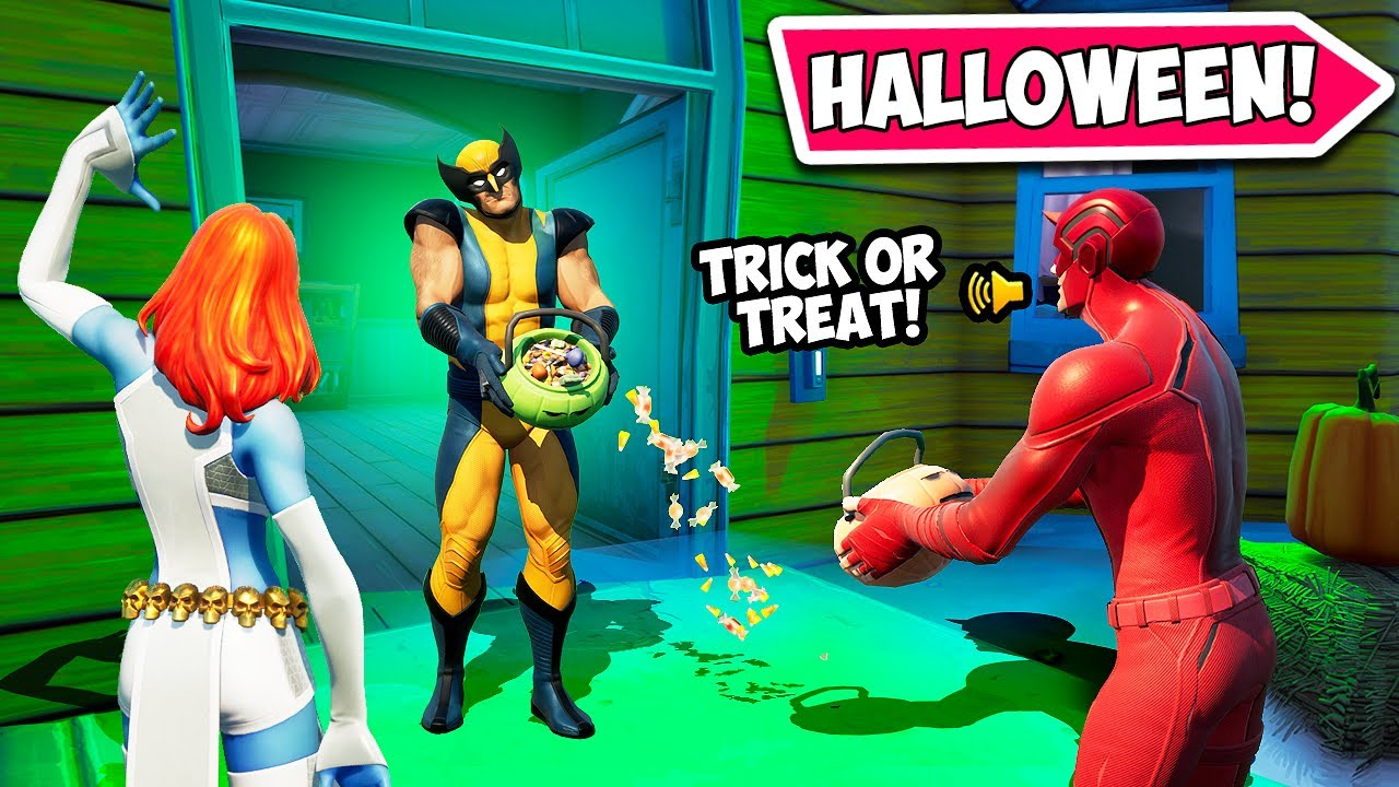 *TRICK OR TREATING* IN FORTNITE!! - Funny Fails and WTF Moments! #1070
