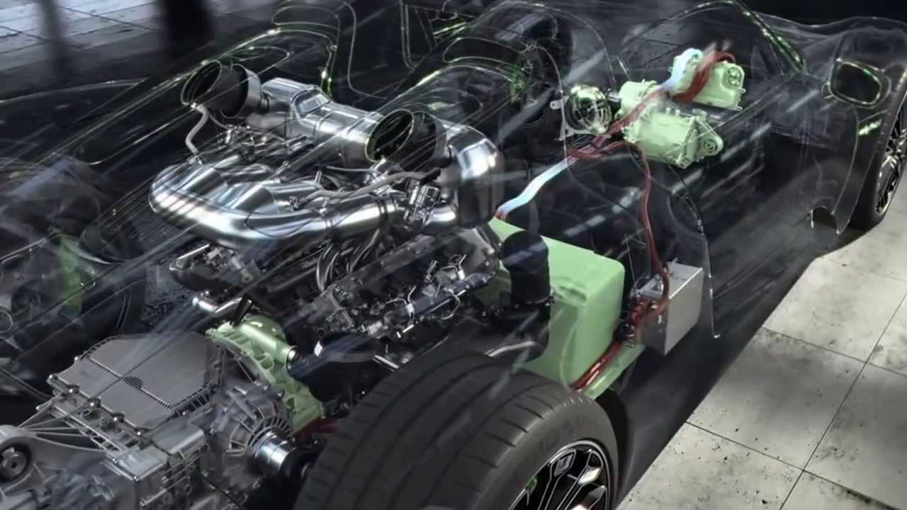 Porsche 918 Spyder >> Porsche 918 Spyder Engine Technology - YouTube