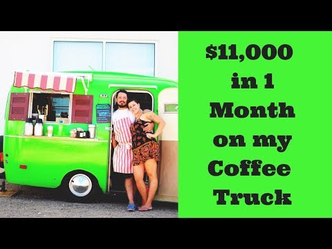 How I Made Over $11,000 In Dec On The Coffee Truck | Mobile Food Coffee Truck Designs And Ideas |