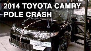2014 Toyota Camry | Pole Crash Test | CrashNet1