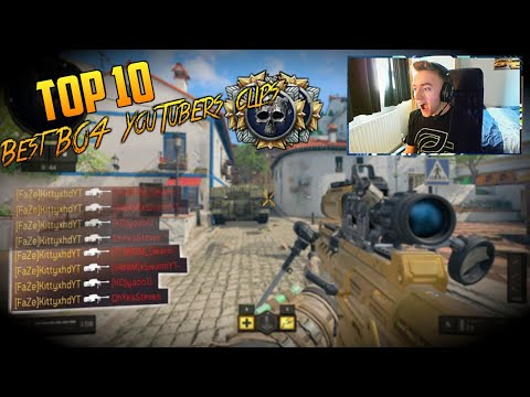 Top 10 - Sniper Clips Of Famous Youtubers On Black Ops 4!!