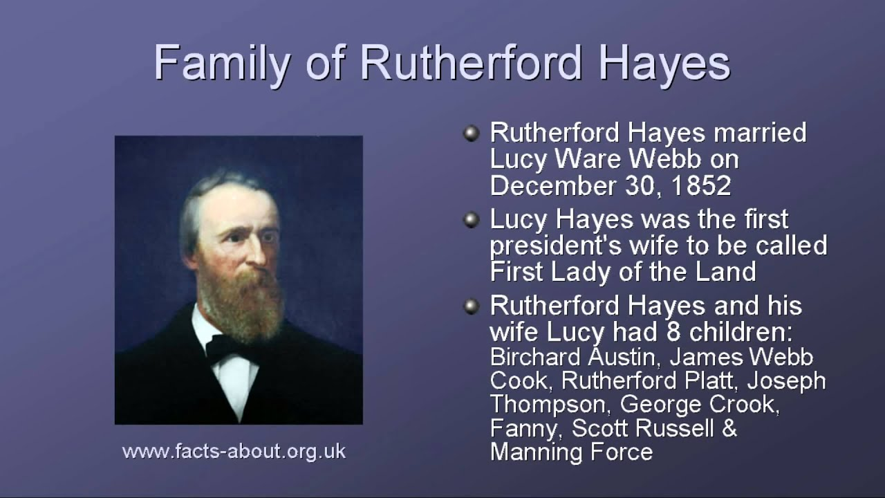 President Rutherford Hayes Biography - YouTube