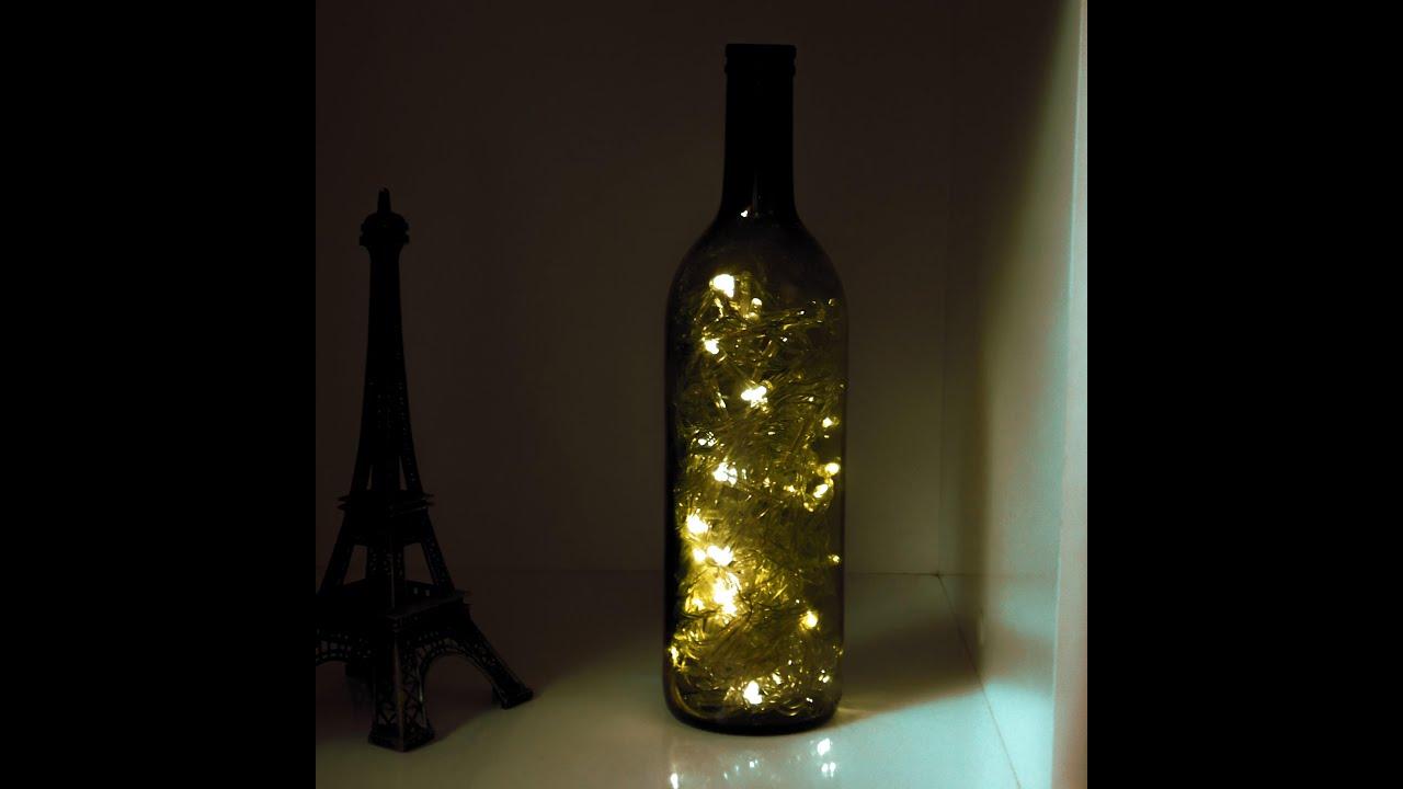 Dica de decoraç u00e3o Luminária com garrafa de vinho YouTube