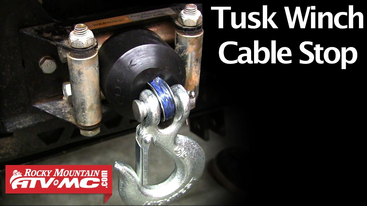 Tusk Rubber Winch Cable Stop Spotlight Amp Installation