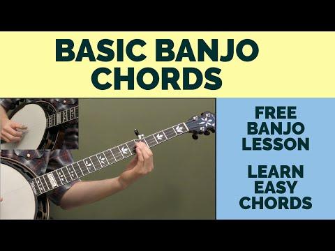 Free Banjo Lesson Basic Banjo Chords Youtube