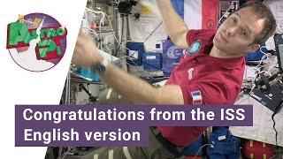 Thomas Pesquet congratulates Astro Pi participants from space