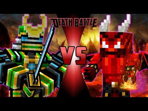 Robot Samurai VS Evil Demon (Pixel Gun 3D DeathBattle)