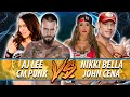 CM Punk & AJ Lee VS John Cena & Nikki Bella (WWE 2K16 PC Mods) | WWE RAW 2016