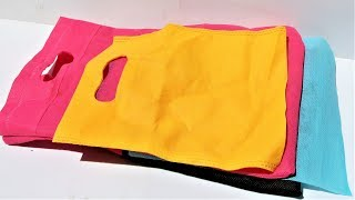 Best reuse idea of fabric carry bag | Best out of waste