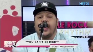 MAYONNAISE NET25 LETTERS AND MUSIC Guesting - EAGLE ROCK AND RHYTHM