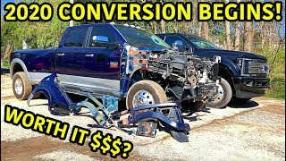 Building My Dad His Dream Wrecked Truck Part 3
