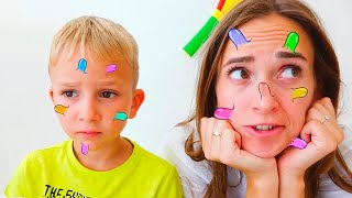 Vlad and Mommy funny kids story about big pimple