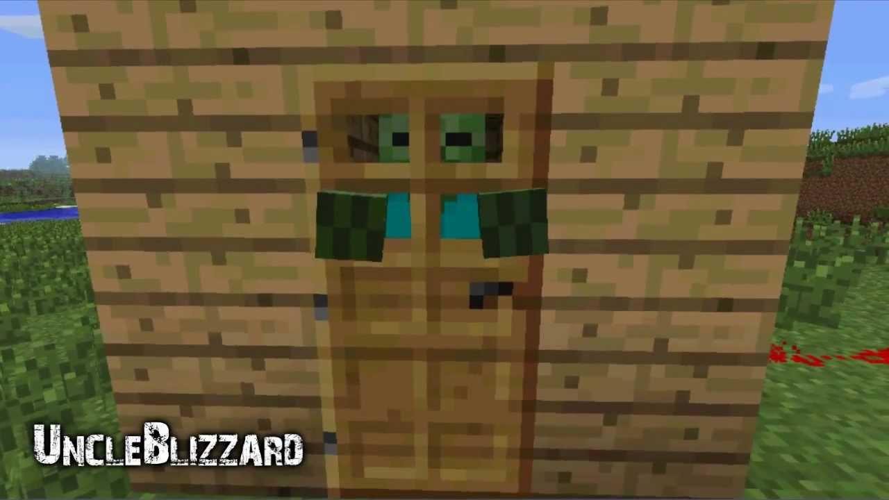 Minecraft 112.12 - Zombies Breaking Down Doors and New Dispenser Look