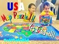 default - Melissa & Doug USA Map Floor Puzzle (51 pcs, 2 x 3 feet)