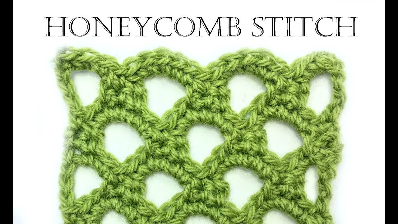 How To Crochet Honeycomb Stitch Youtube