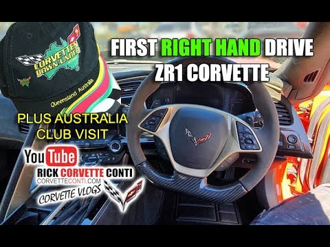 1ST RIGHT HAND DRIVE 2019 ZR1 & AUSTRALIA CORVETTE CLUB FLASHBACK VISIT