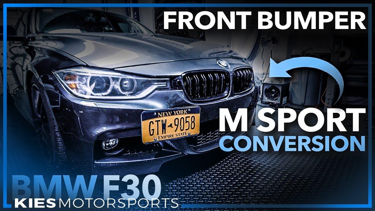 2012-2018 BMW F30 3 Series M Sport Style Front Bumper Conversion